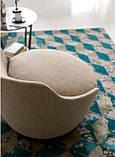 Італійське кругле дизайнерське обертове крісло Jammin фабрики Alberta, фото 3
