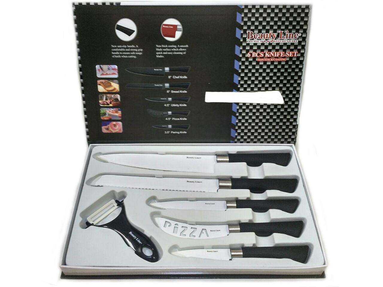 Набор кухонных ножей Beauty Line BL-K5BW 6 в 1