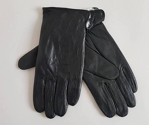 Мужские кожаные перчатки утеплитель кролик