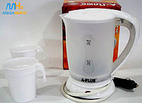 Чайник автомобильный электрочайник 12v A-plus 1518 White