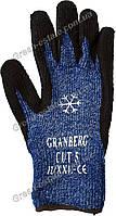 Перчатки рабочие теплые вспененная ладонь синие, фото 1