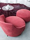 Італійське кругле дизайнерське обертове крісло Jammin фабрики Alberta, фото 7