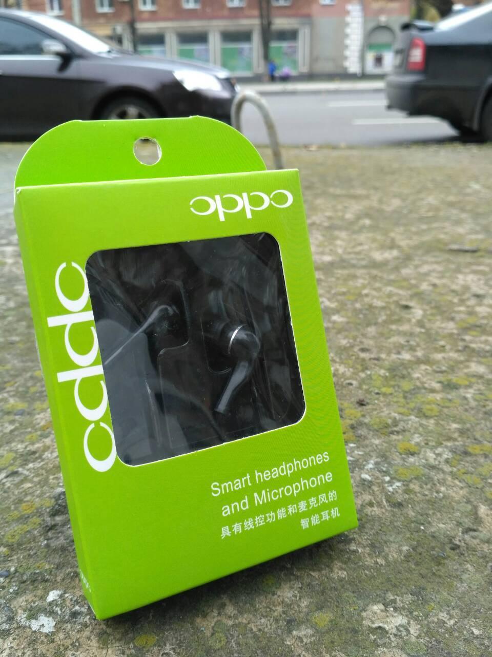 Наушники вакуумные ODDO green без  микрофона