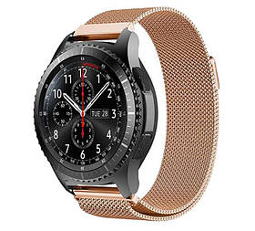 Міланський сітчастий ремінець Primo для годин Samsung Gear S3 Classic SM-R770/Frontier RM-760 - Rose Gold