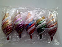 Новогодние игрушки на елку Набор шишки 5 штук размер 13*5 см