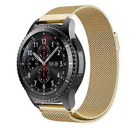 Міланський сітчастий ремінець для годинника Samsung Gear S3 Classic SM-R770/Frontier RM-760 - Gold