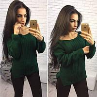 Женский вязаный свитер (английская вязка)