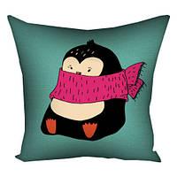 Подушка Пингвин в шарфике Подарок на Новый год 2021
