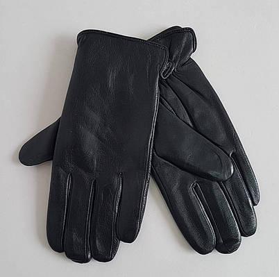 Мужские кожаные перчатки утеплитель махра