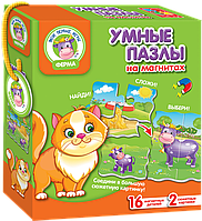 "Магнитная игра ""Умные пазлы"" Ферма (рус) VT1504-33 Vladi Toys, фото 1"