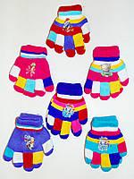 Цветные детские перчатки
