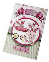 Кожаная обложка для свидетельства о рождении для девочки