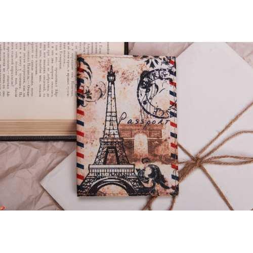 Обложка для паспорта Эйфелева башня