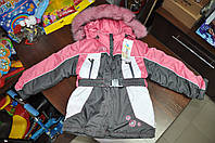 Зимний комбинезон для девочки фирмы Люксик. 110 размер