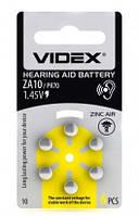 Бат.слух. Videx  ZA10-D6 Zinc Air PR70, DA230, 1, 4V (24216)
