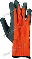 Перчатки рабочие зимние вспененный латекс оранжевые, фото 1
