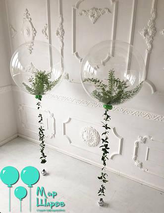 Пластиковый шар с живой флористикой, фото 2
