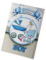 Кожаная обложка для свидетельства о рождении для мальчика