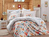 Комплект постельного белья сатин тм Hobby евро размер Lavida красный