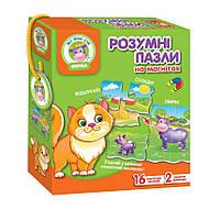 """Магнітна гра """"Розумні пазли"""" Ферма (укр) VT1504-37 Vladi Toys, фото 1"""