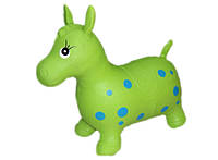 Прыгун резиновый надувной Лошадка салатовая детская от 1 года MS 0732