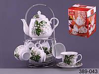 Сервиз чайный Lefard Ландыш 14 предметов 220 мл на подставке, 389-043