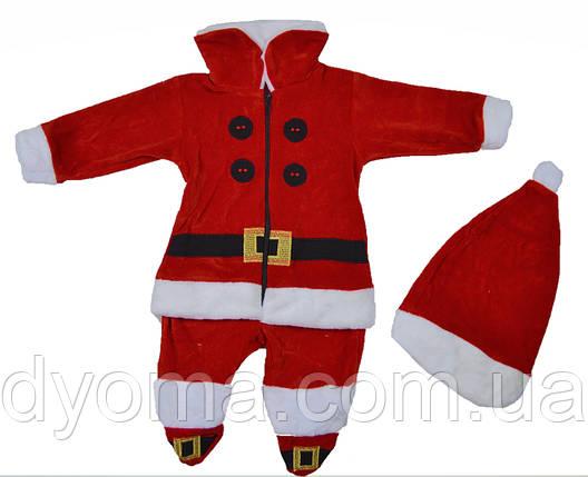 """Детский новогодний комбинезон """"Санта"""" для мальчиков, фото 2"""