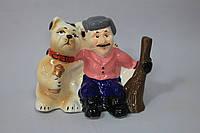 """Копилка ,,Дворник с собакой"""" 15 см"""