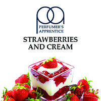 Ароматизатор The perfumer's apprentice TPA Strawberries and Cream (Клубника со сливками)