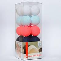 Хлопковая гирлянда Cottonballlights (20 шаров)