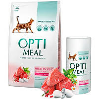 Optimeal (Оптимил) HIGH IN VEAL - сухой корм для взрослых кошек (телятина), 10кг.