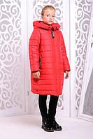 Зимнее детское пальто Ангел (122-140см)