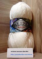 Акриловая пряжа (100%-акрил, 100 г/210 м) Alize Burcum Klasik 55(белый)