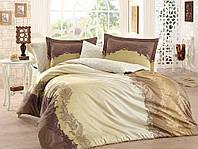 Комплект постельного белья сатин тм Hobby евро размер Filomena коричневый