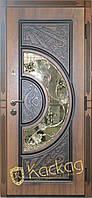Двери входные металлические Адамант New со стеклом и ковкой