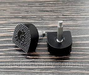 Набойки п/у на штыре KANEIJI р. 9*9мм толщина штыря 2.9 мм цвет черный