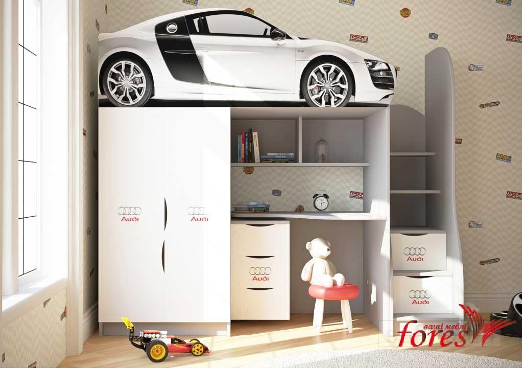 Кровать-чердак Bed Room  «Audi»серия Бренд