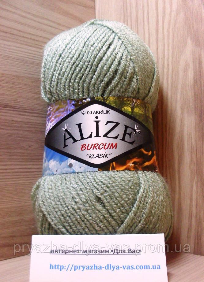 Акриловая пряжа (100%-акрил, 100 г/210 м) Alize Burcum Klasik 138(зелёный миндаль)