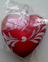 Новогодние игрушки на елку Сердце размер 7,5*8,5 см