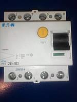 Устройство защитного отключения (УЗО) EATON PF-6 4P 25A 30мА