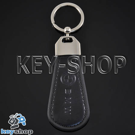 Брелок для авто ключей БМВ (BMW) кожаный, фото 2