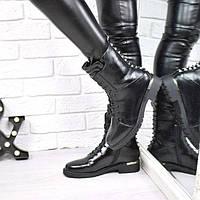 Стильные женские зимние ботинки Roxi черные 3815