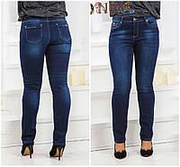 Стрейчевые утепленные джинсы на байке. Большие размеры 29 30 31 32 33 34 35 36 37 38