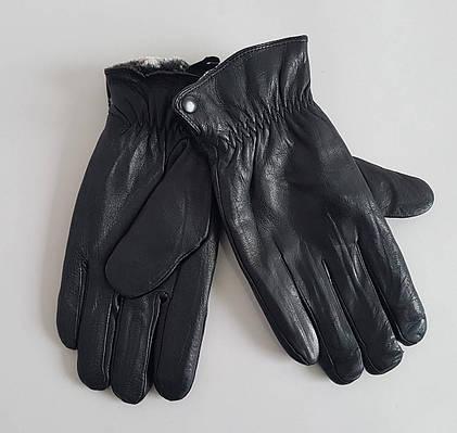 Мужские кожаные перчатки утеплитель мех