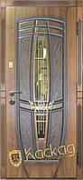 Двери входные металлические Пегас со стеклом и ковкой, фото 1