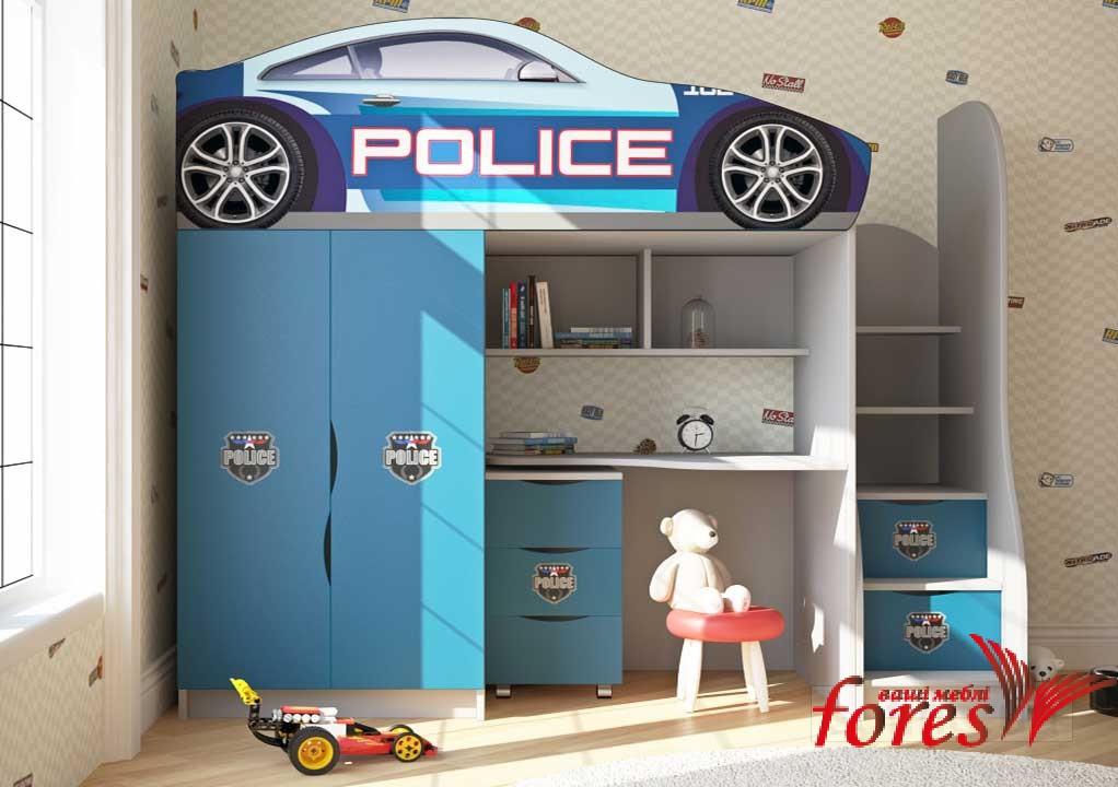 Кровать-чердак Bed Room «Police» серия Бренд