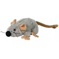 TRIXIE (Трикси) Мышка плюшевая с кошачьей мятой 7см - игрушка для кошек