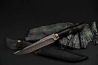 """Авторский коллекционный нож """"Брутальный-М"""", мозаичный дамасск, мельхиор (наличие уточняйте)"""