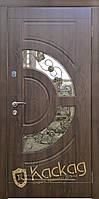 Двери входные металлические Орион со стеклом и ковкой
