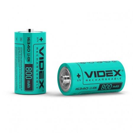 Аккумулятор Videx Li-ion 16340 (без защиты), 800mAh, 3,7V - МиЛиКа в Харькове